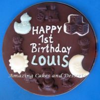 Chocolate Birthday Plate