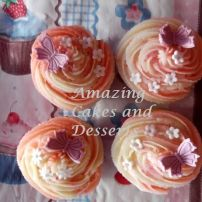 filled butterfly flower cupcakes