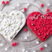 Heart and Pearls Biscuits