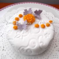 Mini Rose and Butterfly Cake