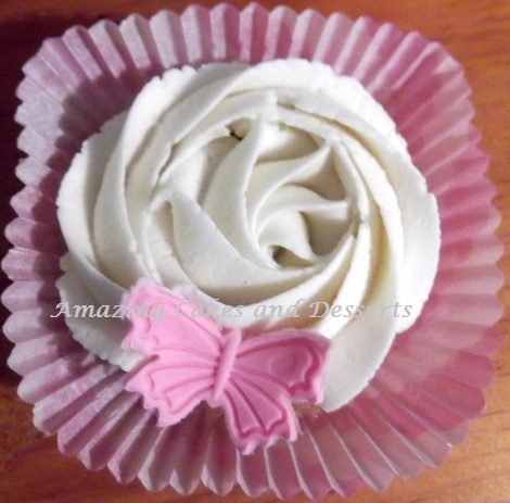 Rose and Butterfly Cupcake