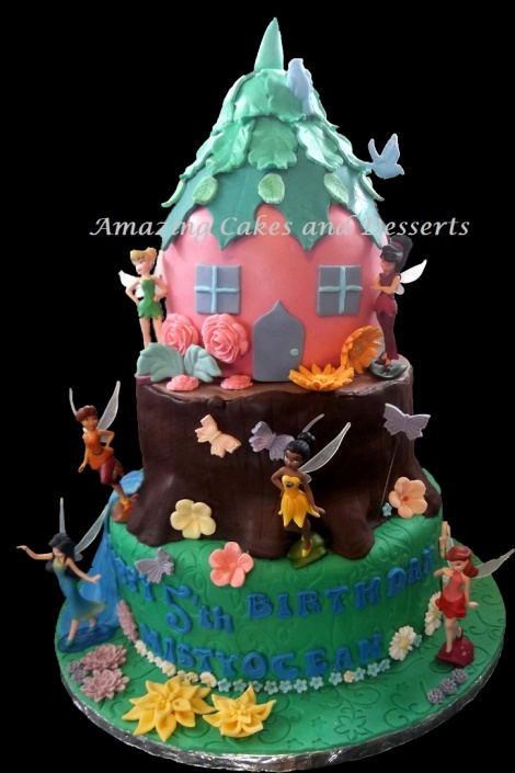 Tinkerbell and Fairy Friends Magical Cake