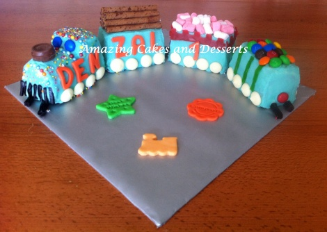 Lolly Train Cake