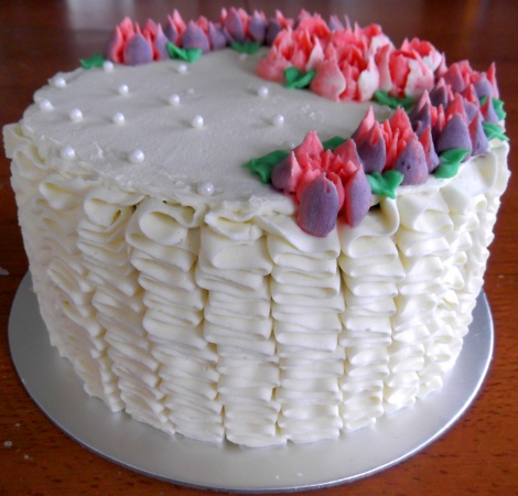 Ruffles and Tulips cake