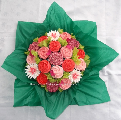 Red and Pink Flowerbouquet