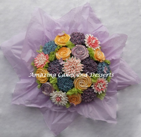 Colourful Cupcake Flowerbouquet