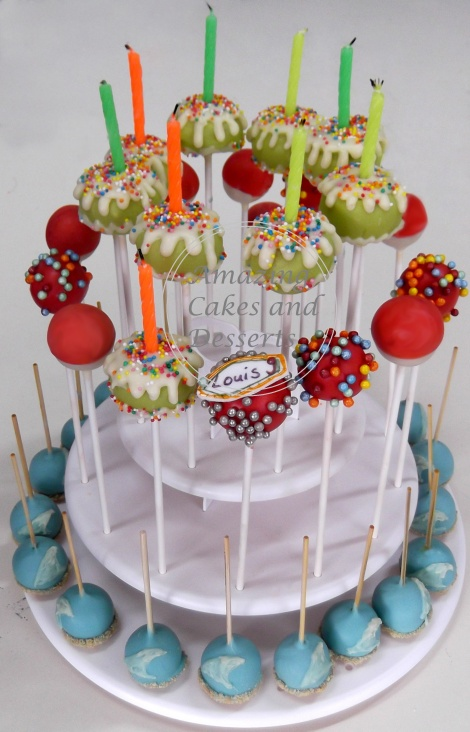Beach & Surfing Cake pops