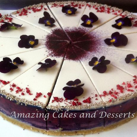 Black Currant & Raspberry GF Vegan Cheesecake