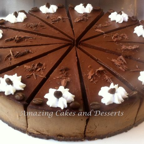 Mocha GF Vegan Cheesecake