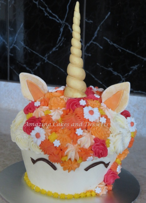 Gorgeous Little Miss Unicorn Giant Cupcake