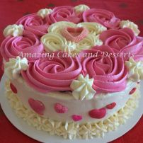 Hearts and Roses Miniature Cake