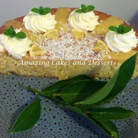 Lemon and White Chocolate Gluten Free Cake