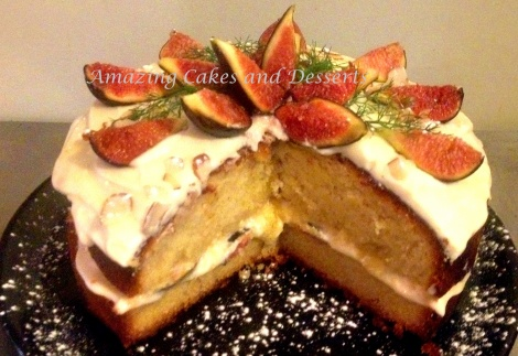 Fig and Almond Gluten Free Cake