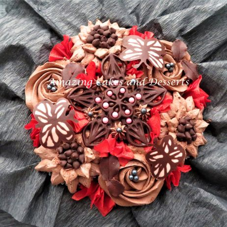 Chocolate Lovers Cupcake Bouquet