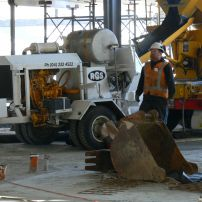 Equipment suitable for long line and concrete spray jobs