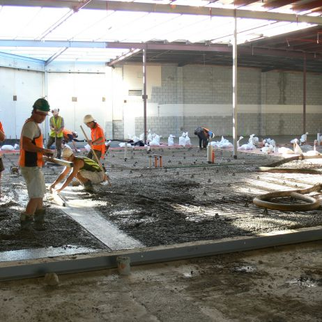 New Tawa New World - Pumping and Placing of new Polished Floors