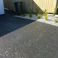 Exposed Aggregate Driveway at Show Home Aotea