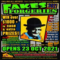 NEW 2021 FAKES & FORGERIES POSTER!