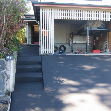 Indian black coloured concrete Steps, Path and Driveway.