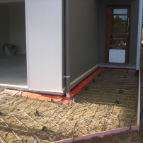 Pathway and Driveway prepared with Cordon Poison barrier for termite protection.
