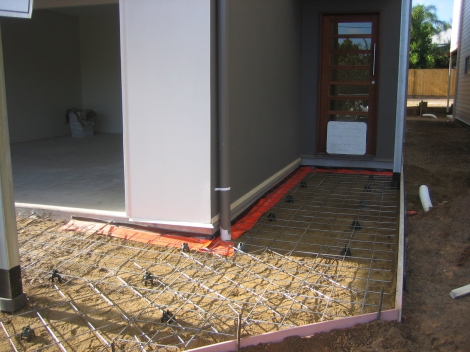Pathway & Driveway prepared with Cordon Poison barrier for termite protection ready to pour.