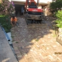 BEFORE PHOTO - Removal of old paving Driveway to replace with new exposed Driveway.