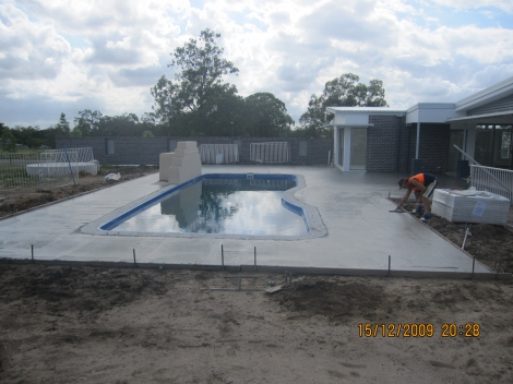 AFTER PHOTO - New plain concrete Pool Surrounds.