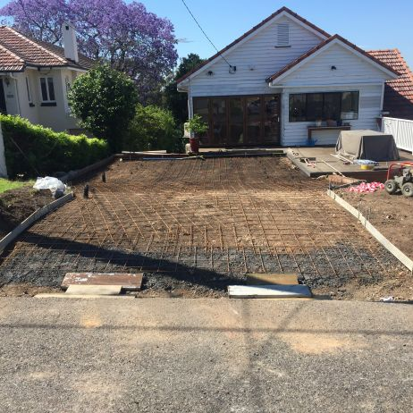 BEFORE PHOTO:  Preparation of new Driveway wtih Future Carport Slab.