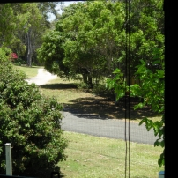 View from master bedroom to Resthave Drive