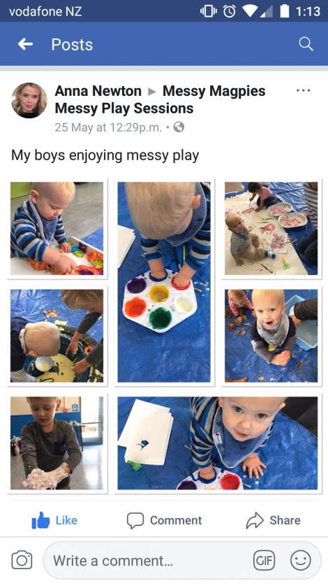 Messy Play Painting Messy Magpies