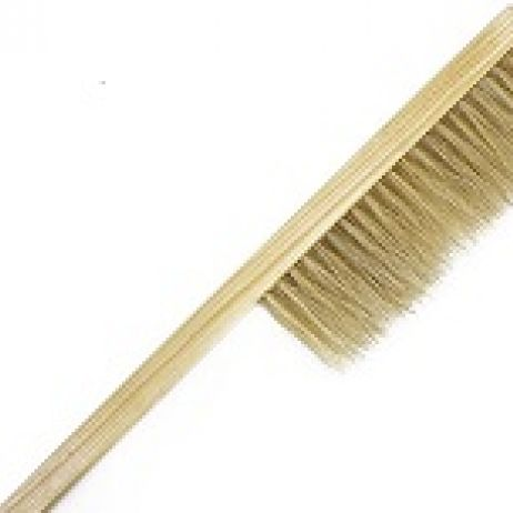 Quality horse tail bee brush, wooden handle