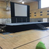 Large Indoor Stage with Screen