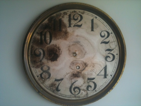 clock face before