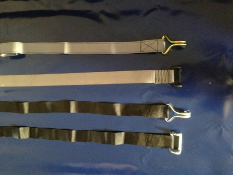 Truck curtain straps