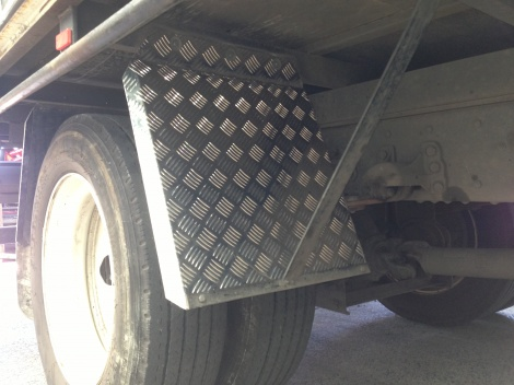 Custom made mud guards fitted to any truck or trailer