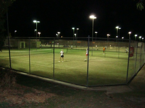 Courts at night