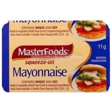 Masterfoods Mayonnaise 100x11g