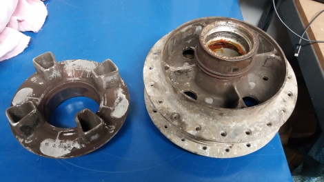 HUB BEFORE VAPOUR BLASTING