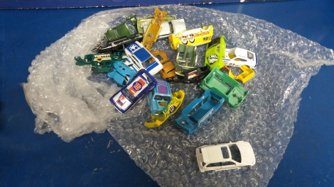 Diecast Car Bodies Vapour Blasted