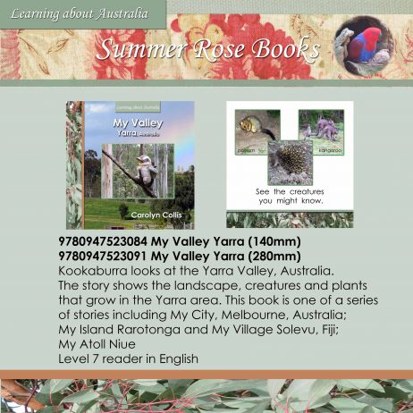 9780947523084 My Valley Yarra (140mm)