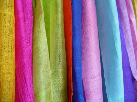 Raw Silk Scarves