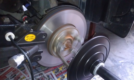 Front Disc Rotor Machining