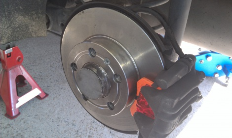 Replace Rear Disc Rotors and Disc Pads on VW Beetle