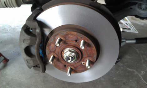 Front Disc Pad Repair and Disc Machine Honda CRV