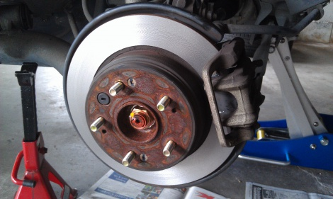 Rear Disc Pads Replaced and Rear Disc Rotor Machine Honda CRV
