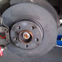 BMW X5 99 Front Disc Pads and Rotors Replaced