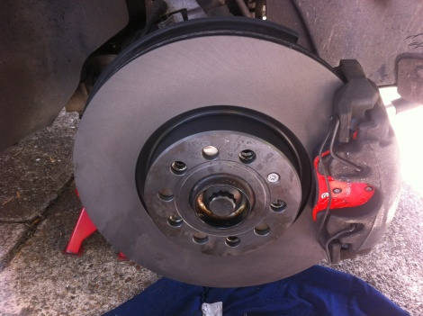 Front Disc Pads and Rotors Replacement Audi