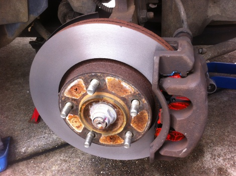 Front Disc Pads and Disc Rotor Machine Kia Carnival