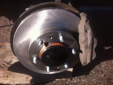 New Front Disc Rotors and Wheel Studs Replaced after wheel almost come off! Hilux