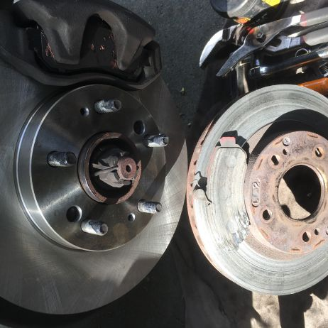 RDA Front Disc Rotors and Brake Pads Newcastle